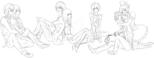CotM Cast Lineart by Miss-Bow