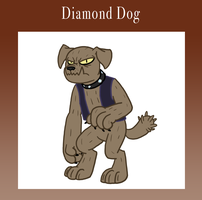 Eponia Diamond Dog by The-Clockwork-Crow