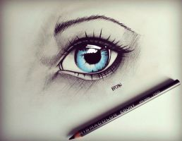 Eye drawing by Bajan-Art