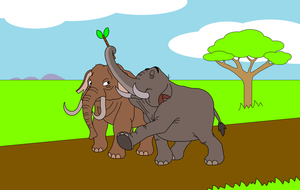 Crossover: Hathi meets Hathi by DarkDiddyKong