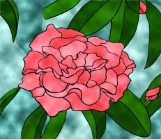 Stained Glass Camelia by Aoringo