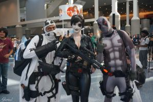 Fantomex, Domino and Deadpool - X-Force by Garivel