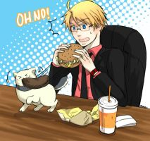 APH: Oh NO My Burger by waterylt