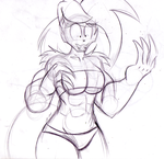 Muscle Bunny :3 by TheIcedWolf