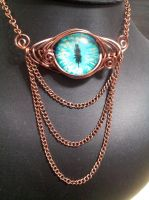 Dragon Eye with Copper Chain by BacktoEarthCreations