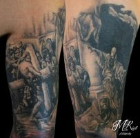 The crucifixion of Jesus by Anderstattoo
