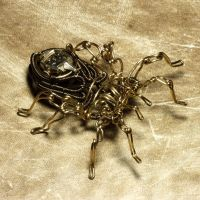 Steampunk Spider sculpture 4 by CatherinetteRings