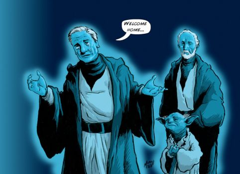 Leia Is Now One With the Force by Mumah