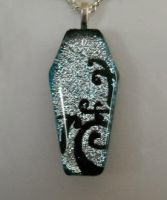 Silver Coffin Fused Glass by poisons-sanity