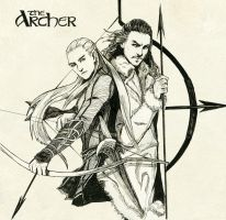 Legolas greenleaf and Bard the bowman by navy-locked