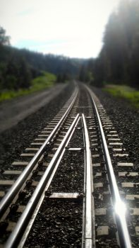 Railroad Tracks. by WhatIsBeauty1