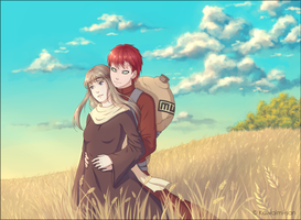 Gaara and Nezumi by Kawaimi-san