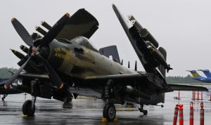 Skyraider in the Rain by shelbs2