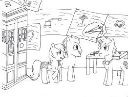 Doctor Whooves - It's A Ginger Unicorn!!! lineart by mizuki12341