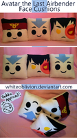 Avatar The Last Airbender Face Cushions by WhiteOblivion