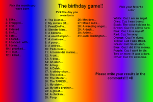 The Brithday Game!!!! by cutegal129