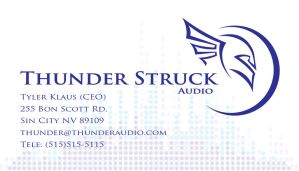 Thunder Struck Business Card by Gmrmnd7
