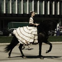 Dress and horse by Kaja-kgr