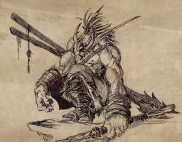 troll headhunter by BenedictWallace