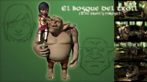 El bosque del Troll - Shortmovie poster by Ahadur