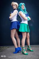 Sailor Uranus and Sailor Neptune by RinaG