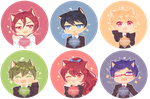 Free! buttons by KokoTensho