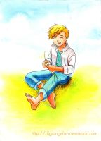 FMA - Alphonse :: Enjoying summer by DigiAngeFan