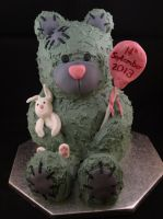 Me to You Bear Cake by sparks1992