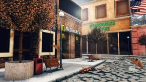 McDonalds in Autumn-3DS  MAX by RomanianGuy