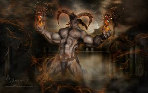 Hyperion: Titans of Vision  and astral fire by annemaria48