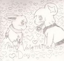 Happy Valentines Day, Team SparkFang by EvaEevee