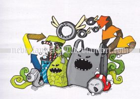 garbage monsta by neverlandART