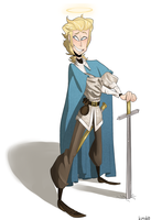 ReDesign Challenge Day 1: Medieval Archangel by kimyk0