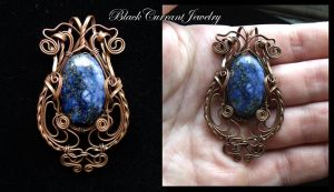Lapis and Copper by blackcurrantjewelry