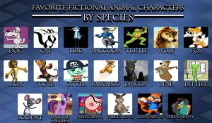 My Favorite Fictional Animal Characters in Species by Toongirl18