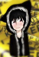 Izaya With Cat Hoodie by LunaTheBunnie