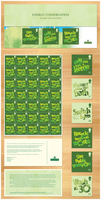 Energy Conservation Stamps by GotGfx