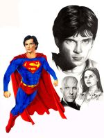Smallville cast portrait by hawk5