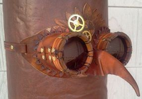 Bird Goggles by Leatherfanshop