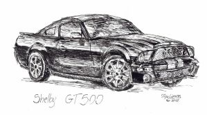 Shelby GT500 - KITT by TigaLioness