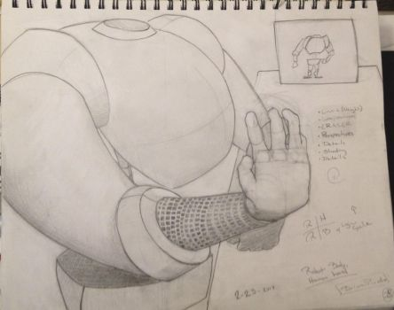 Robot Body, Human Hand by FalcoLeonis