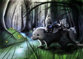Possum Band :. Speedpaint by SemiFloating