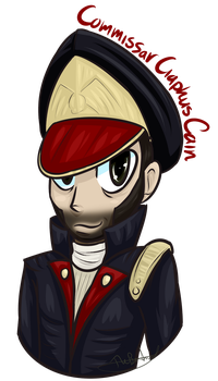Commissar Cain doodle by TheBearTamer