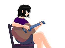 Maggie Playing guitar by Tmntfan13