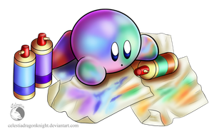 30 Day Kirby Challenge - 17 - Ocean And Grapes by CelestiaDragonKnight