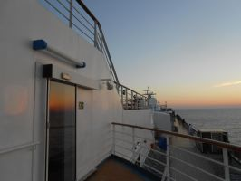 Night coming to the Cruise ship by OceanRailroader
