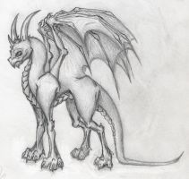 Just a Dragon. by Oblavon