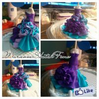 Cake Topper Polymer Clay Commission WIP by DarkettinaMarienne