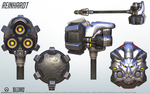 Reinhardt - Overwatch - Close look at model by PlanK-69