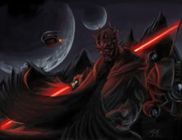 dark force- darth maul by abovocipher
